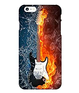 Make My Print Guitar Printed Blue Hard Back Cover For Iphone 6 Plus