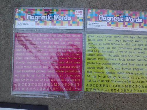 Magnetic Words (Assorted, Designs Vary)