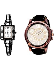WATCH ME COMBO GIFT SET OF WATCHES FOR MEN AND COUPLES WM-116W-117B