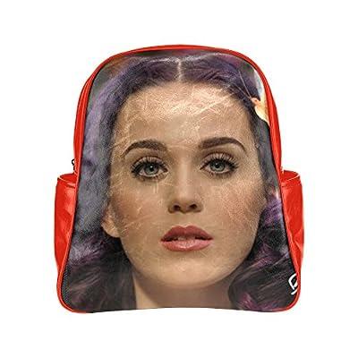 2buymore Custom School Bag Backpack Singer Katy Perry Multi Pockets Backpacks PU Leather 20.1 Oz