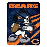 NFL Chicago Bears Mickey Mouse Ultra Plush Micro Super Soft Raschel Throw Blanket