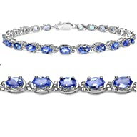Tanzanite Tennis Bracelet Crafted in…