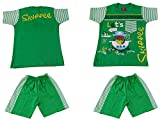 Amykids Baby Boys' Half Sleeve T-Shirt and Shorts Set (sf24-g, Green, 9 - 12 Months)
