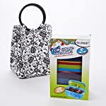 Lauren Kids' Lunch Bag Kit with Set of 1 Cup Soft Touch Containers (Black & White Ebony)