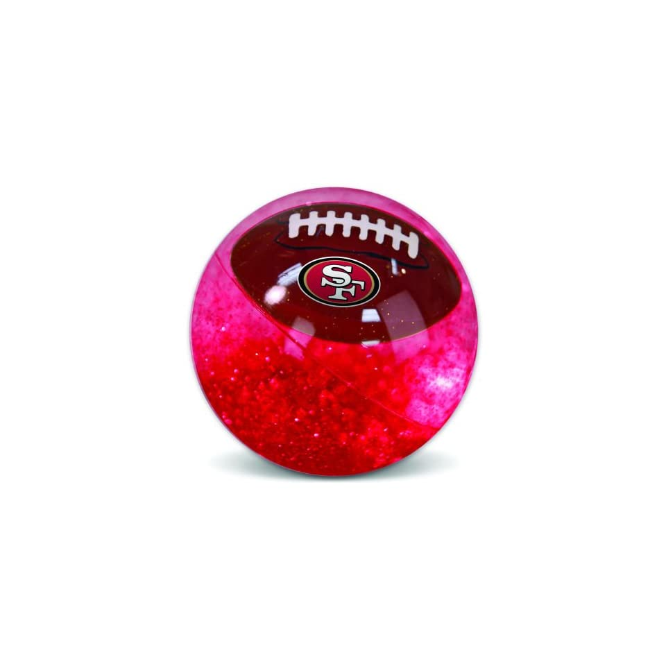 Pack of 3 NFL San Francisco 49ers Light Up Football Super Balls