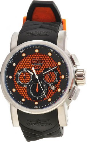 S1 RALLY BLK ORANGE DL QTZ 3H BLACK PU [Watch] Invicta