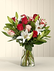 Large Christmas Rose & Lily Bouquet