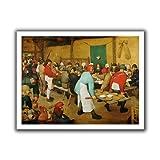 ArtWall Pieter Bruegel 'Peasant Wedding' Unwrapped Canvas Art, 28 by 36-Inch