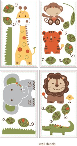 Kids Line Decals, Jungle Walk (Discontinued by Manufacturer) - 1