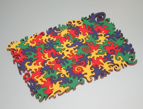 Small Four-color-map Wooden Jigsaw Puzzle