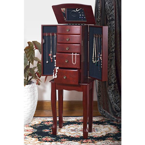 Buy Bargain Traditional Style Cherry Jewelry Armoire Chest