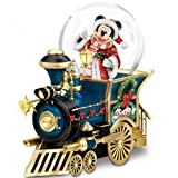 Disney Mickey Mouse Miniature Snowglobe: Santa Mouse Is Comin' To Town by The Bradford Exchange