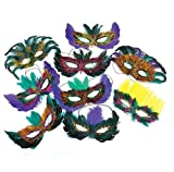 50 (Fifty) Pack of Mardi Gras Masquerade Party Feather Fantasy Masks(Assorted Colors) Reviews