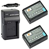 DSTE® 2x BP-1030 Battery + DC124 Travel and Car Charger Adapter for Samsung NX10 NX100 NX1000 NX1100 NX11 NX20 NX200 NX210 NX300 NX500 NX2000 Camera as BP1030 BP1030B BP1130 BP1310 BP1310EP