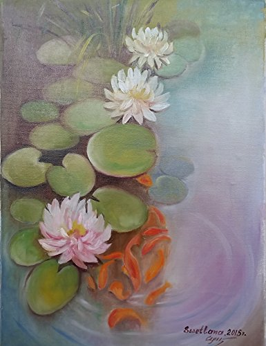 the-pond-handmade-original-oil-painting-on-canvas-size-30x40-cm-2015-by-svetlana-guchshina