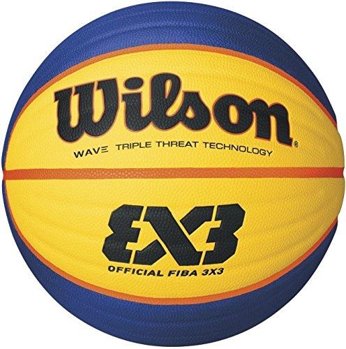 Wilson pallone da basket Official 3 x 3 FIBA Game, colore giallo/blu, misura 6, WTB0533XB