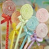 甘くておいしそう! かわいい カラフル ペロペロキャンディー型 ボールペン 6色 12本セット 景品も