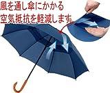 風に強く、骨が痛みにくい「耐風傘」(たいふうがさ)ネイビーブルー