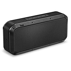 DIVOOM VOOMBOX PARTY Portable Ultra Rugged and Water Resistant Bluetooth 4.0 Wireless Speaker in 20w Output with NFC Function. Built-in microphone for handsfree calling Compatible with most iOS on iPhone 3/3s/4/4s/5/5s/6/plus iPad 2/3/4/Air/Mini; and most Android device including- Google Nexus 4/5/6/7/9/10 HTC One LG Samsung Galaxy and note (Color- Black)