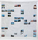 Fotovorhang 180 x 180 cm (BxH) Fotowand - Duschvorhang mit 143 Taschen,