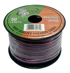 Pyramid RSW1650 16 Gauge 50 Feet Spool of High Quality Speaker Zip Wire