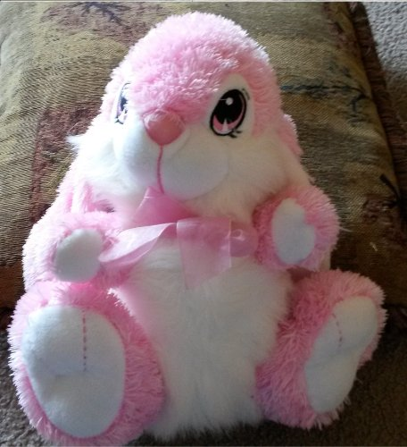 Dan Dee Collector'S Choice Pink And White Stuffed Bunny front-731252