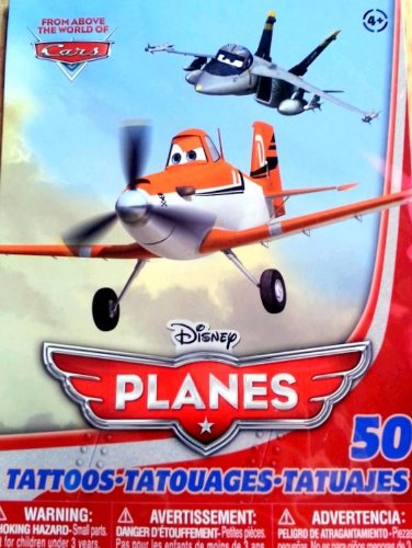 "Disney PLANES Temporary Tattoos ""From Above the World of Cars"" (50 Count)"