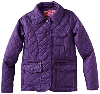 Dollhouse Big Girls'  Big Girl Quilted Barn Jacket, Purple, 16