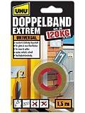 Uhu 46820 Doppelband Extrem bis zu 120 kg, 1.5 m x 19 mm,