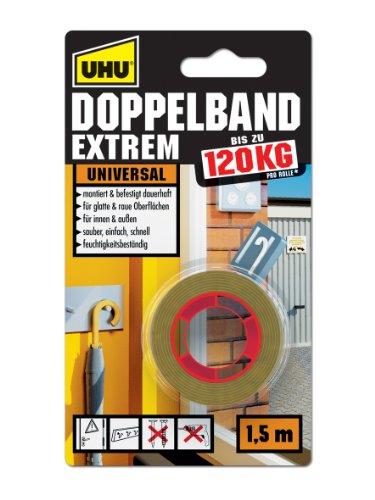uhu-46820-doppelband-extrem-bis-zu-120-kg-15-m-x-19-mm