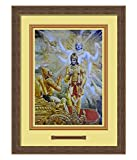 Elegant Arts & Frames Krishna Reveals Divine Form Multicolour Print 14 x 19 Photo Frame