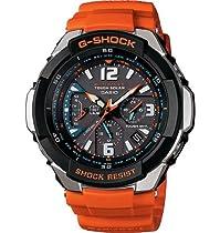 Casio Quartz, Orange Band Black Dial - Unisex Adult Watch GW3000M-4A