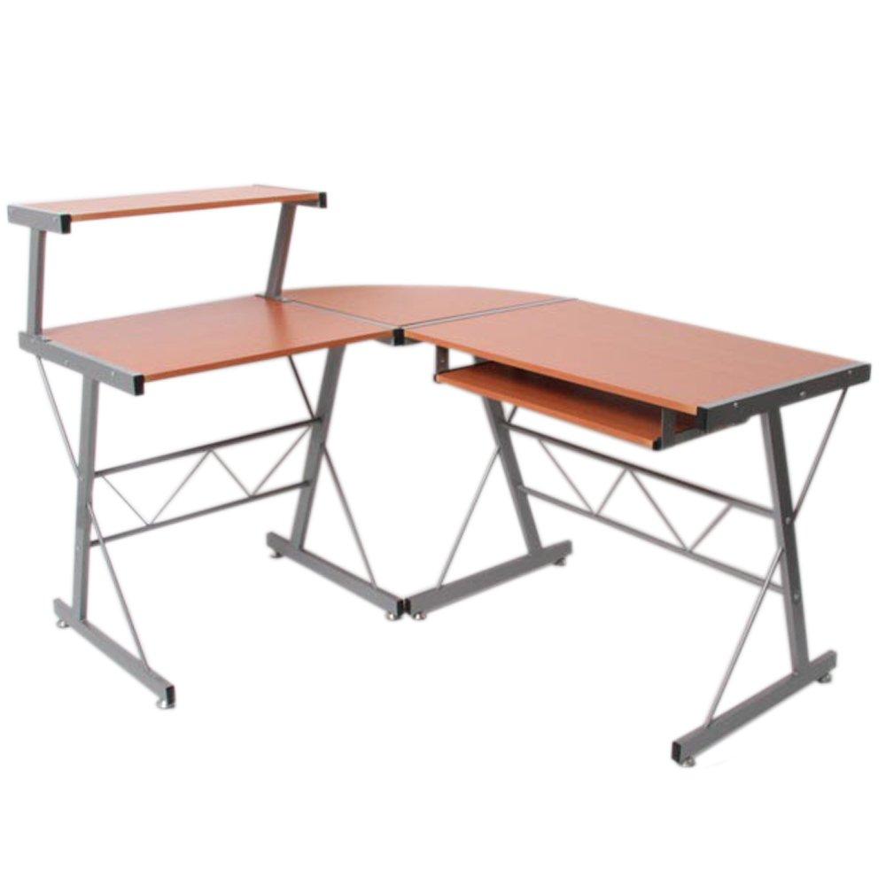 Jugend-Schreibtisch Bürotisch Nevada, ca.100x115x140cm ~ Buche, MDF kaufen