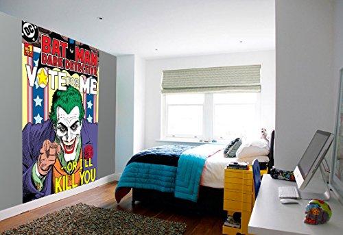 1-Wall-Papier-peint-facile--poser-Motif-le-Joker-de-Batman-Comic-158-X-232-m