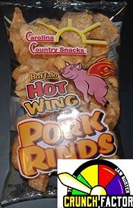 Fried Pork Rinds Hot Wings 6 bags (1.75oz)