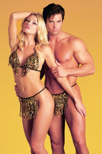 His and Her Bra Panties 3 Piece SeXy Animal Print Couple Set Costume