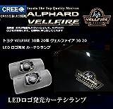 1年間保証!CREEチップ搭載 「新デザイン入荷」トヨタ VELFIRE 30系 20系 ヴェルファイア 30 20 LED ロゴ発光 カーテシランプ 2個セットヴェルファイア30系20系 ルームランプLED ドアカーテシランプ ウェルカムプロジェクター ユニット交換 取付簡単 2個セット