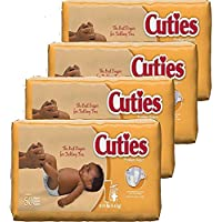 4 Pack Cuties Baby Diapers Size 1 50-Count