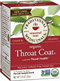 Traditional Medicinals Organic Throat Coat, 16-Count Boxes (Pack of 6)