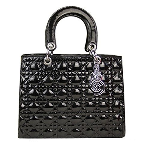 Vendita, fragrante New Fashion-Borsa a spalla Diana borsetta, (nero),
