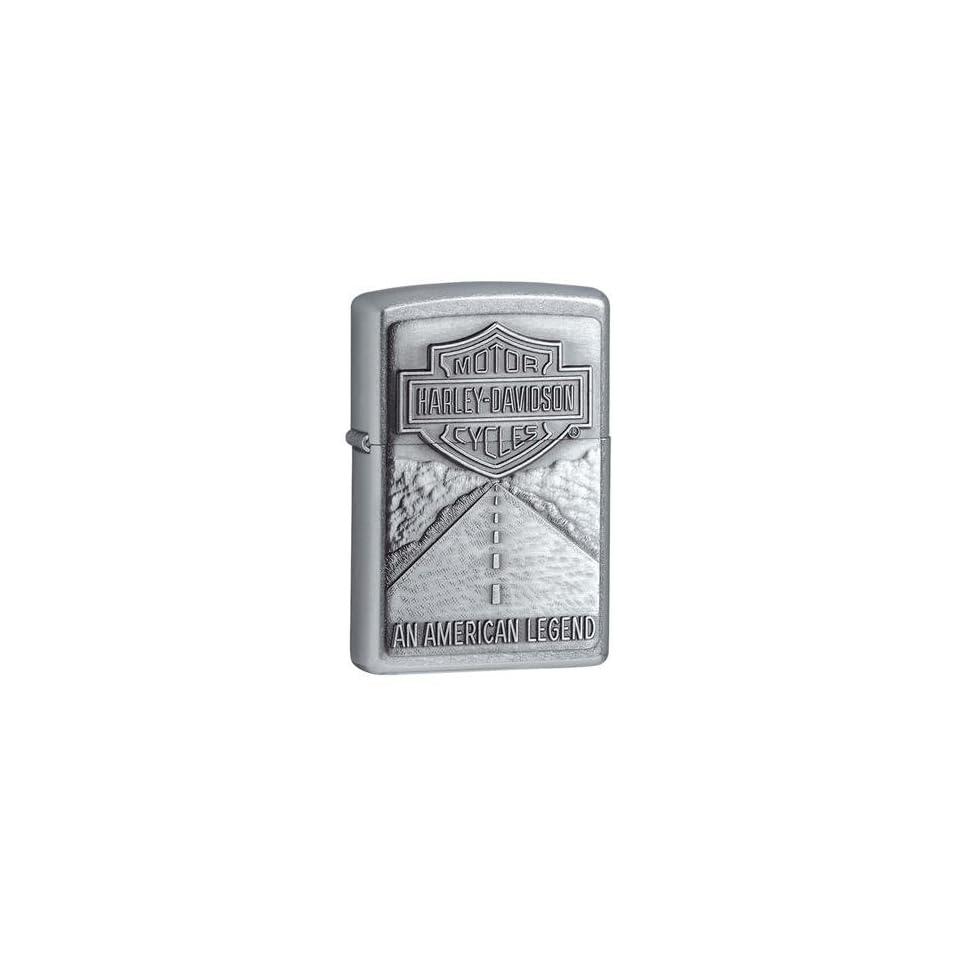 Zippo Harley Davidson American Legend Emblem Street Chrome Lighter