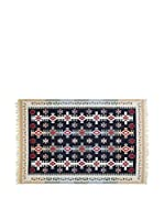 Tapis a Porter Alfombra Doubleface Mehmet Rojo/Marfil/Multicolor 100 x 300 cm