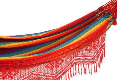 Cotton hammock, 'Icarai Rainbow' (double)