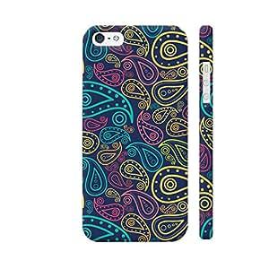 Colorpur Hand Drawn Seamless Floral Pattern Designer Mobile Phone Case Back Cover For Apple iPhone SE | Artist: Designer Chennai