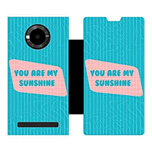 Phone Candy Designer Flip Cover with hi-res printed Vinyl sticker wrap-around for Micromax Yu Youphoria