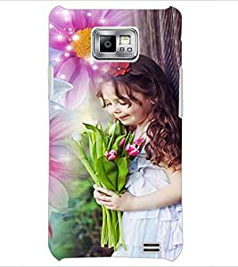 PrintDhaba Cute Baby D-5031 Back Case Cover for SAMSUNG GALAXY S2 (Multi-Coloured)