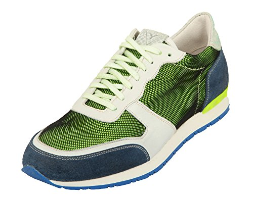 YLATI Mercurio, Sneaker uomo Verde Green Suede/Textile, Verde (Green Suede/Textile), 44