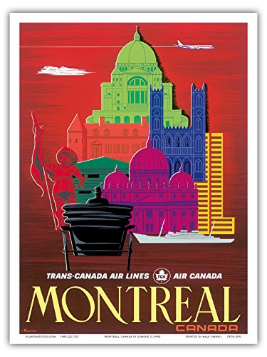 montreal-canada-tca-trans-canada-air-compagnies-aeriennes-air-canada-vintage-airline-travel-poster-b