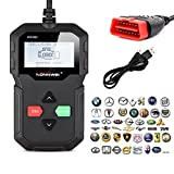 kiwitatá Universal OBD2 OBD II Scanner Car Engine Fault Code Reader CAN Diagnostic Scan Tool with O2 Sensor Test and On-board Monitor Test