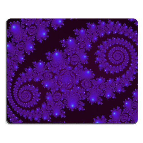 Pattern Purple Abstract Picture Mouse Pads Customized Made To Order Support Ready 9 7/8 Inch (250Mm) X 7 7/8 Inch (200Mm) X 1/16 Inch (2Mm) High Quality Eco Friendly Cloth With Neoprene Rubber Liil Mouse Pad Desktop Mousepad Laptop Mousepads Comfortable C front-1047046
